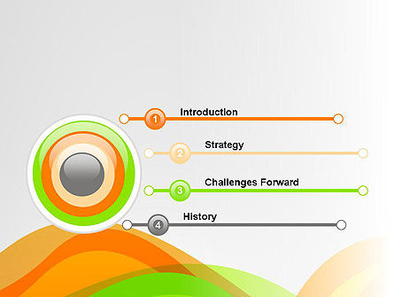 Green and Orange Curves PowerPoint Template Slide 3