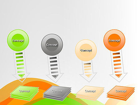 Green and Orange Curves PowerPoint Template Slide 8