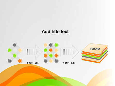Green and Orange Curves PowerPoint Template Slide 9