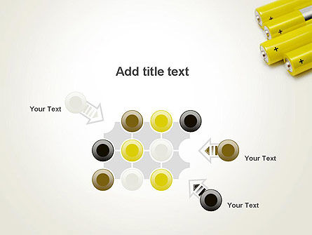 Yellow Batteries PowerPoint Template Slide 10
