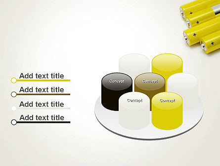 Yellow Batteries PowerPoint Template Slide 12