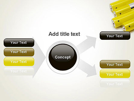 Yellow Batteries PowerPoint Template Slide 15
