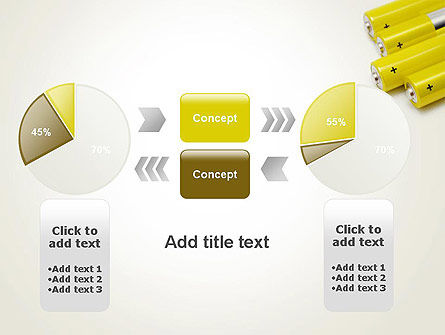 Yellow Batteries PowerPoint Template Slide 16