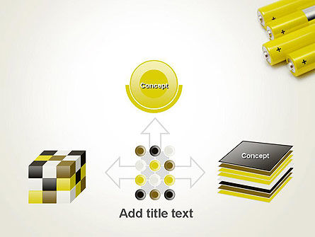Yellow Batteries PowerPoint Template Slide 19
