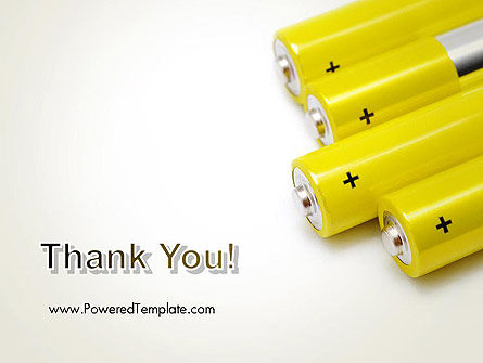 Yellow Batteries PowerPoint Template Slide 20