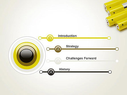 Yellow Batteries PowerPoint Template, Slide 3, 14000, Technology and Science — PoweredTemplate.com
