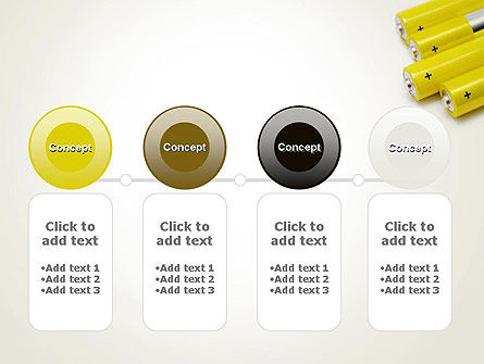 Yellow Batteries PowerPoint Template Slide 5