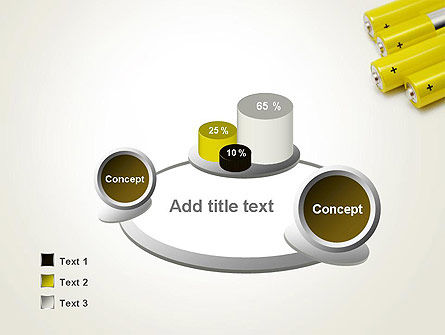 Yellow Batteries PowerPoint Template Slide 6