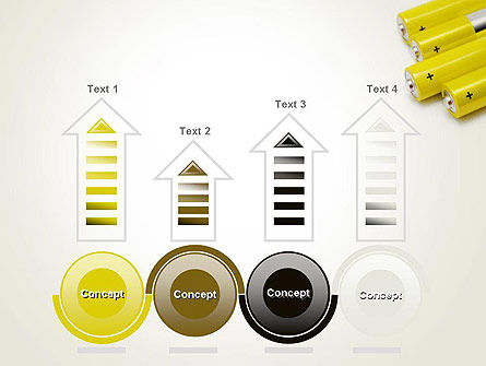 Yellow Batteries PowerPoint Template Slide 7