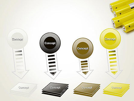 Yellow Batteries PowerPoint Template Slide 8