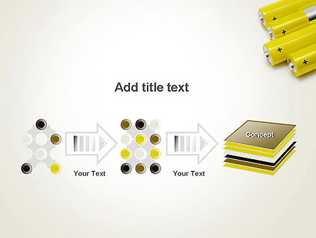 Yellow Batteries PowerPoint Template Slide 9