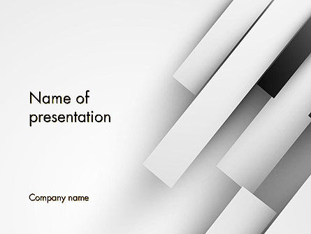 White Rectangular Strips PowerPoint Template