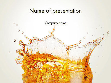 Food & Beverage: Splash Cocktail PowerPoint Template #14002