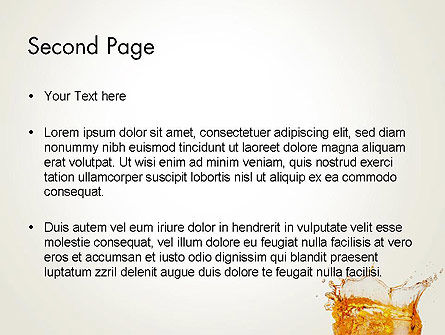 Splash Cocktail PowerPoint Template Slide 2
