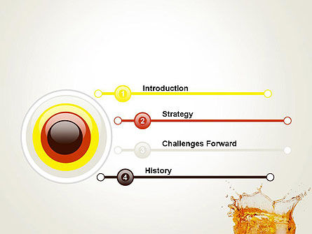 Splash Cocktail PowerPoint Template Slide 3
