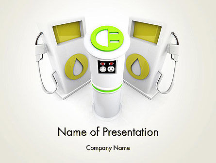 Technology and Science: Car Charging Stations PowerPoint Template #14004