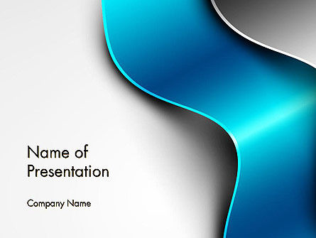 Abstract/Textures: Metal Waves PowerPoint Template #14005