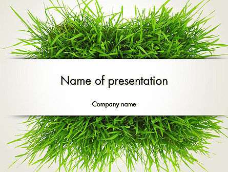 Grass Patch PowerPoint Template, 14006, Nature & Environment — PoweredTemplate.com