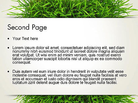 Grass Patch PowerPoint Template, Slide 2, 14006, Nature & Environment — PoweredTemplate.com