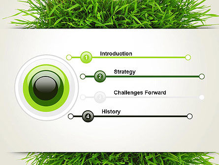 Grass Patch PowerPoint Template, Slide 3, 14006, Nature & Environment — PoweredTemplate.com