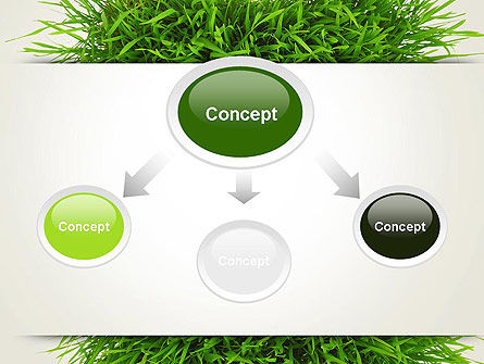 Grass Patch PowerPoint Template, Slide 4, 14006, Nature & Environment — PoweredTemplate.com