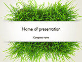 Nature & Environment: Modèle PowerPoint de patch herbe #14006