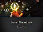 Technology and Science: People's Connection Network PowerPoint Template #14007