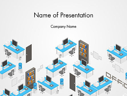 Office Plan and Furniture PowerPoint Template