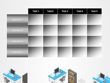 Office Plan and Furniture PowerPoint Template Slide 15