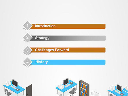 Office Plan and Furniture PowerPoint Template Slide 3