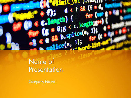 Technology and Science: Programming Code PowerPoint Template #14009