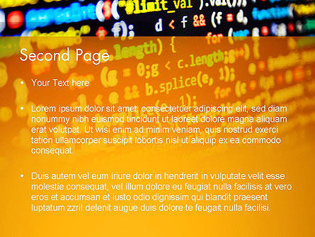 Programming Code PowerPoint Template, Slide 2, 14009, Technology and Science — PoweredTemplate.com