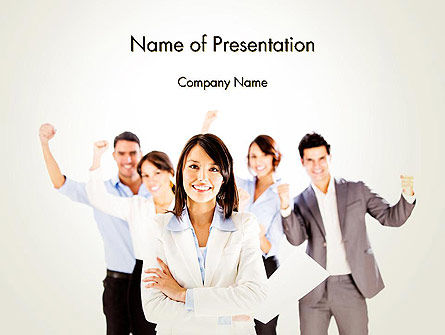 People: Successful Business Woman PowerPoint Template #14010