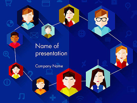 Creative Social Networking People PowerPoint Template, 14011, Business — PoweredTemplate.com