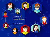 Business: Creative Social Networking People PowerPoint Template #14011