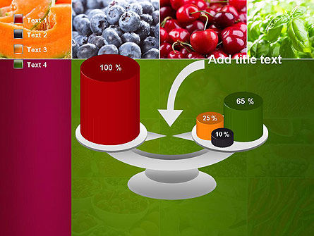 Collage with Different Fruits PowerPoint Template Slide 10