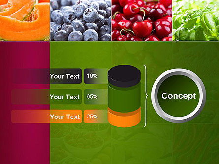 Collage with Different Fruits PowerPoint Template Slide 11