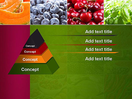 Collage with Different Fruits PowerPoint Template Slide 12