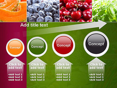 Collage with Different Fruits PowerPoint Template Slide 13