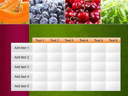 Collage with Different Fruits PowerPoint Template Slide 15