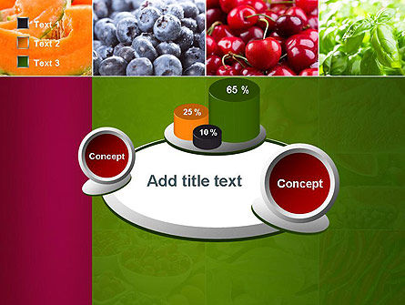 Collage with Different Fruits PowerPoint Template Slide 16