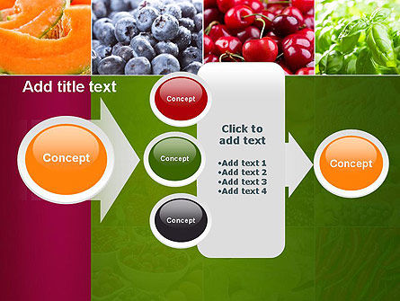 Collage with Different Fruits PowerPoint Template Slide 17