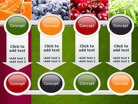 Collage with Different Fruits PowerPoint Template Slide 18