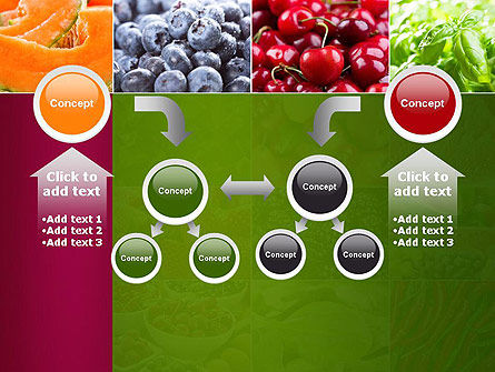 Collage with Different Fruits PowerPoint Template Slide 19