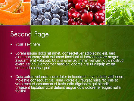 Collage with Different Fruits PowerPoint Template Slide 2