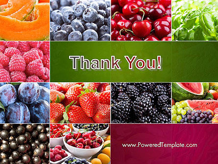 Collage with Different Fruits PowerPoint Template Slide 20