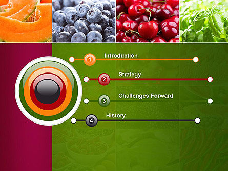 Collage with Different Fruits PowerPoint Template, Slide 3, 14012, Agriculture — PoweredTemplate.com