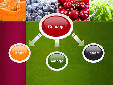 Collage with Different Fruits PowerPoint Template, Slide 4, 14012, Agriculture — PoweredTemplate.com