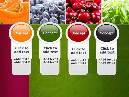 Collage with Different Fruits PowerPoint Template Slide 5