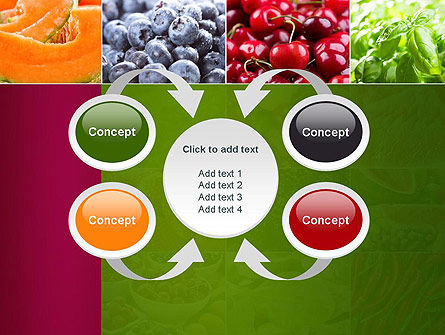 Collage with Different Fruits PowerPoint Template Slide 6